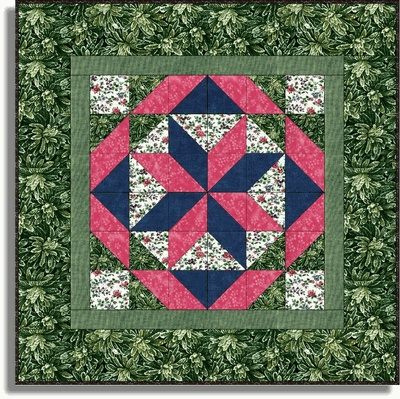 PINK FLORAL BLOOMS Precut Wall Quilt Kit