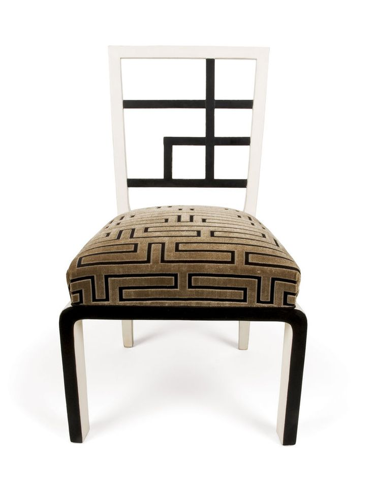 A 1930s side chair reveals Kozma's occasional leanings toward Chinoiserie and Orientalism in his designs.