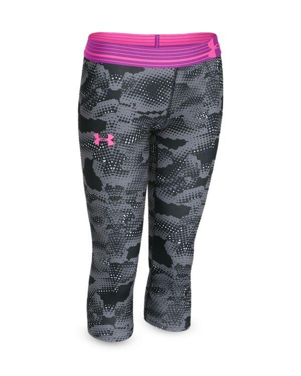 Under Armour Girls' Print Armour Capri Leggings - Sizes Xs-xl