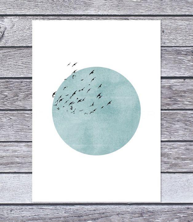 Digitaldruck - 'CIEL' Kunstdruck / Einsaushundert - ein Designerstück von Einsaushundert bei DaWanda