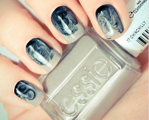 Chinchilly: Nails Art, Nailart, Nails Design, Color, Nailsart, Nailpolish, Nails Polish, Swirls, Water Marbles Nails