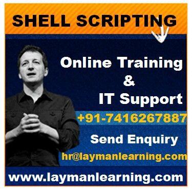 Shell scripting training by layman