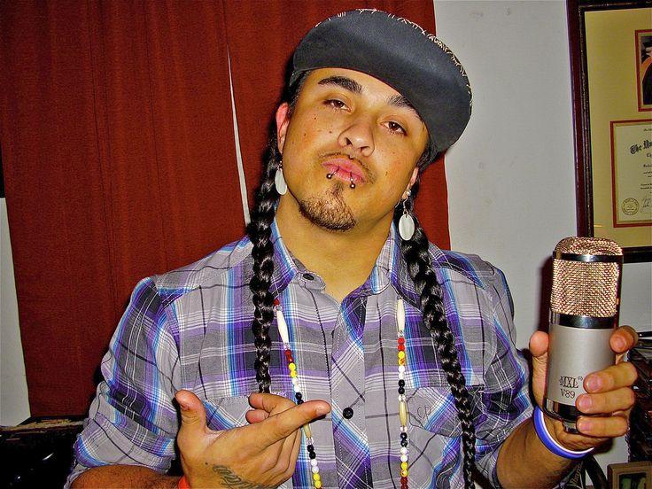 Choctaw rapper/poet Jesse Red Eagle Robbins