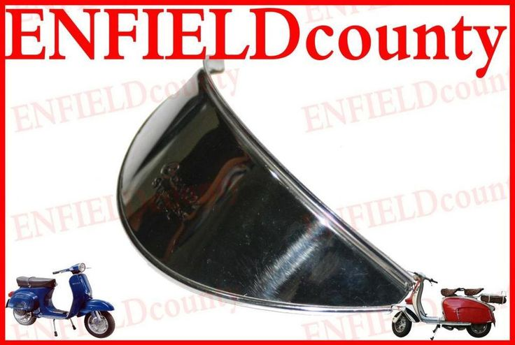 NEW VESPA SCOOTER HEADLIGHT HEADLAMP SHADE CHROME PLATED 6  INCH DIAMETER LIGHTS