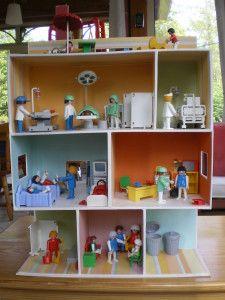 Hôpital Playmobil en cartonpl