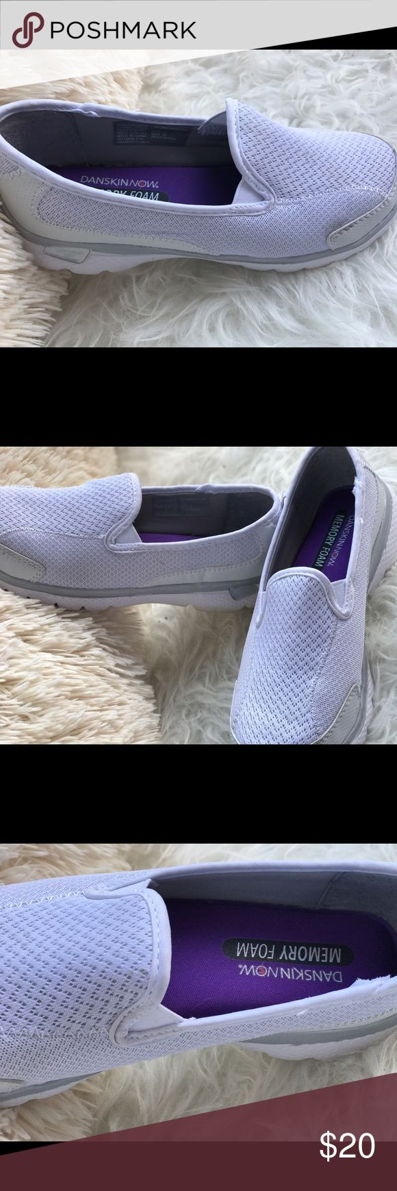 Memory Foam Sneakers 👟 | White Light and baby 👶 comfortable to the feel & feet. | Size 7 Danskin Now Shoes Sneakers