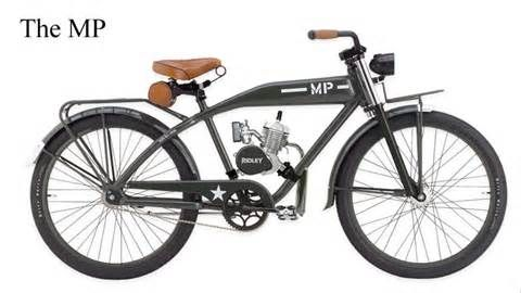 Motorized bicycles and parts in one place.