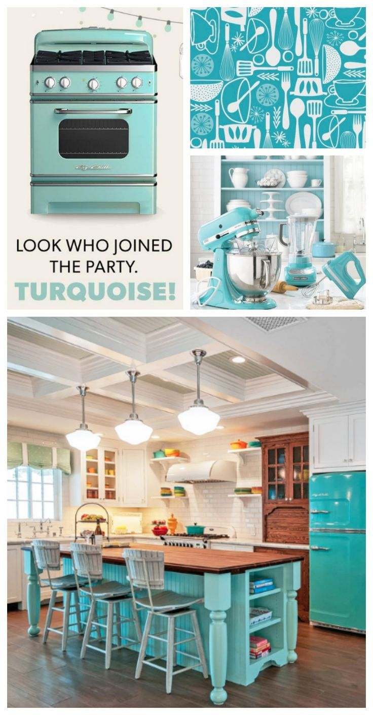 Colorful Refrigerators With Big Chill Turquoise Is Now A