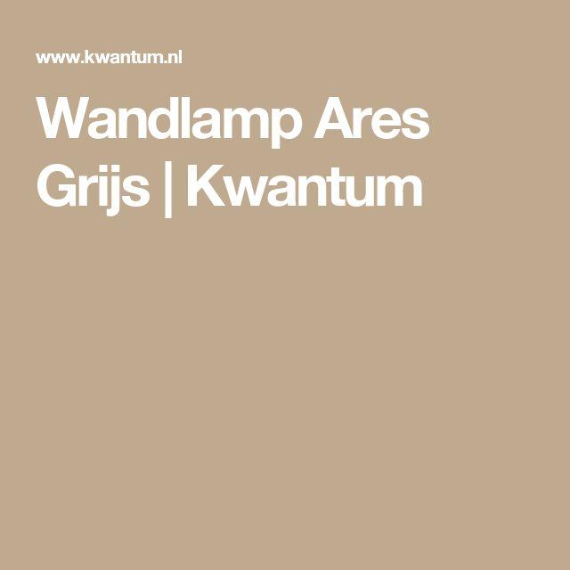 Wandlamp Ares Grijs | Kwantum