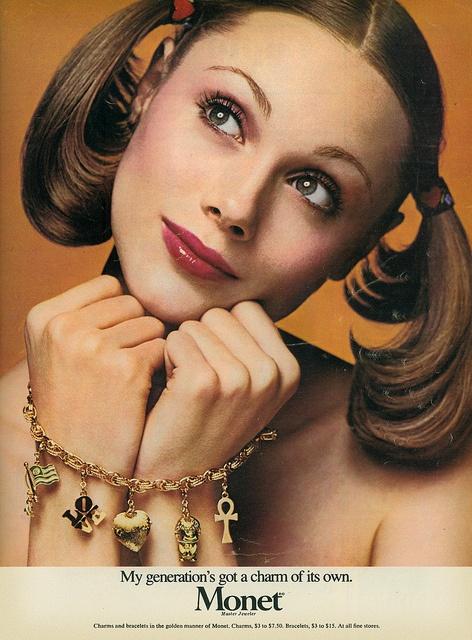 Monet Charm Bracelet, 1974 by MewDeep, via Flickr // My mom was a big fan of the Monet costume jewelry.