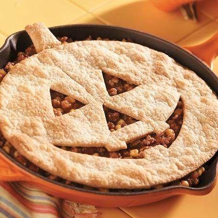Jack o' Lantern Sloppy Joe Pie
