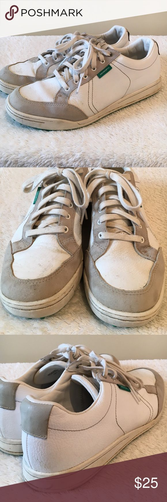 Ashworth golf sneakers 🗽Good condition. Just need a cleaning. Gold shoes with spikes on bottom. Ashworth Shoes Athletic Shoes