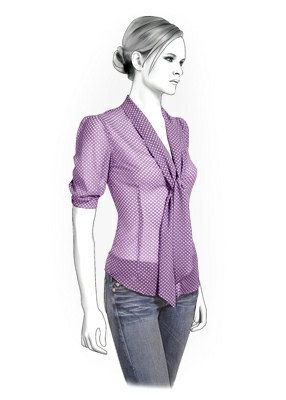 4286 PDF Sewing Pattern for Blouse, Personalized for Custom Size, Women Clothing