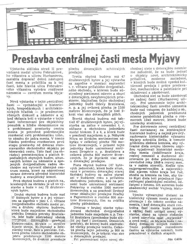 Prestavba centrálnej časti mesta Myjavy