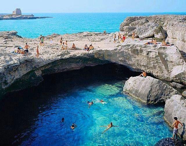 Grotta della Poesia, Roca in Salento - Italy