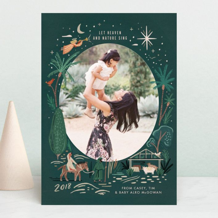 let nature sing holiday petite cards in evergreen by morgan