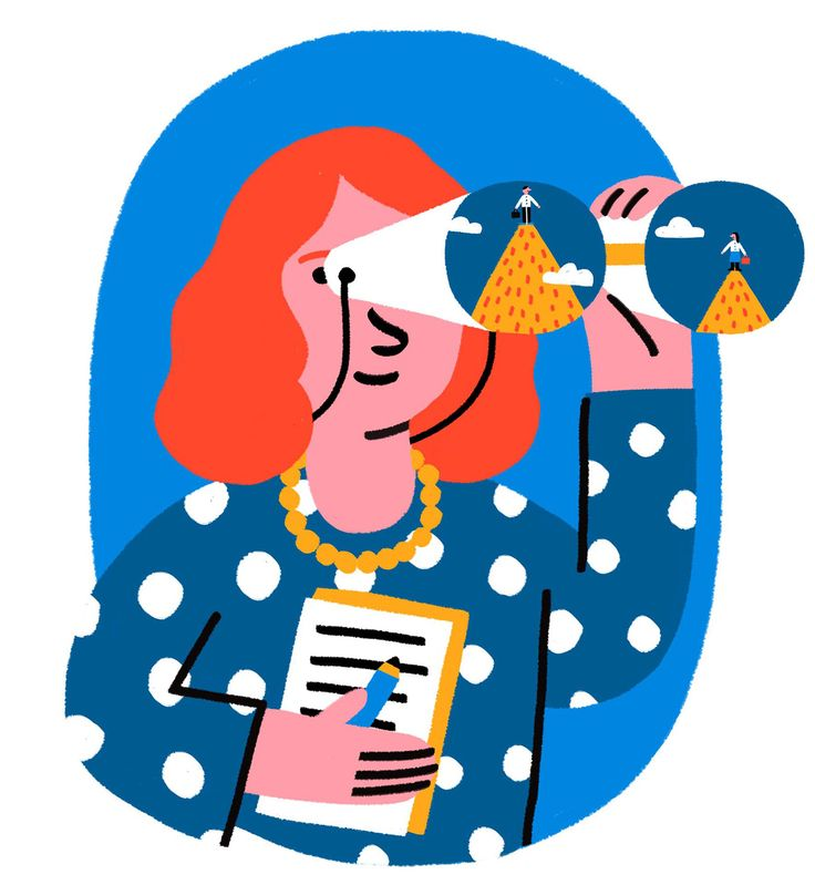 #anaseixas #illustration #newdivision #digital #character #woman #binoculars #theguardian #editorial #editorialillustration #paygap #fgender
