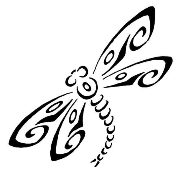 Disegno immagine tatuaggio libellula
