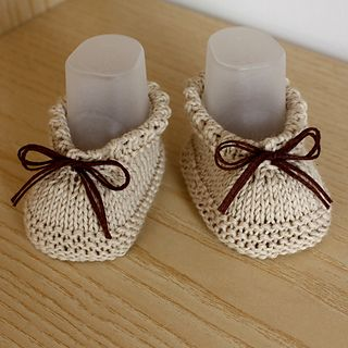 This is a Knitting PATTERN Baby Booties - Easy to make!