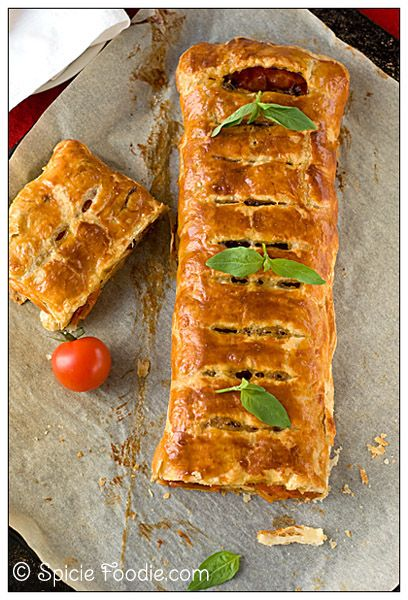 Roasted Tomato and Gouda Strudel- Lovely when paired with a bowl of steaming tomato soup or ratatouille. Hell, it'd be just as wonderful with a side of marinara for dipping and sopping.