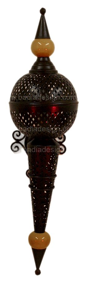 Badia Design Inc Store - Moroccan Wall Sconce with Metal and Ceramic Ball - WL001S, $255.00 (http://www.badiadesign.com/moroccan-wall-sconce-with-metal-and-ceramic-ball-wl001s/)