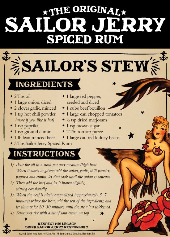 Sailor Jerry Spiced Rum Sailor's Stew... ....I think this was made for me.