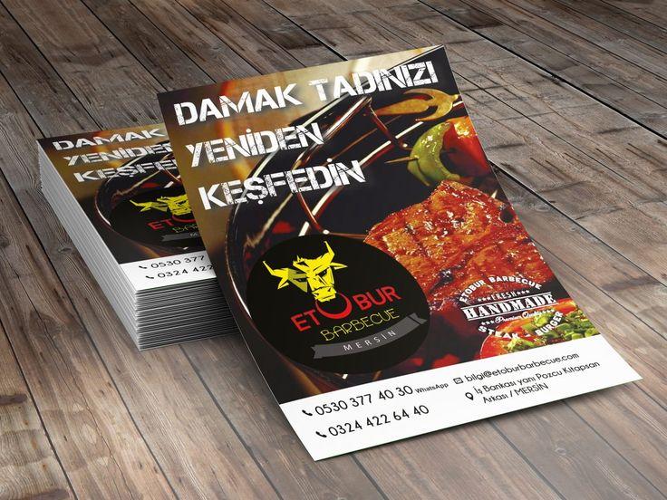 Etobur Barbecue için hazırlanan el ilanı (flyer) tasarımıdır.