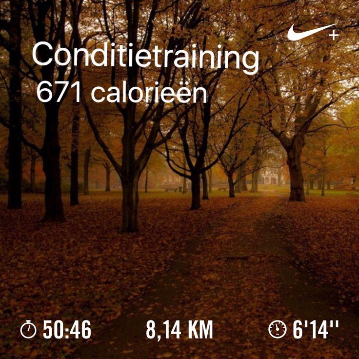 Vanmorgen 7.15 uur. Een rustige training,  interval. 19-11-2016.
