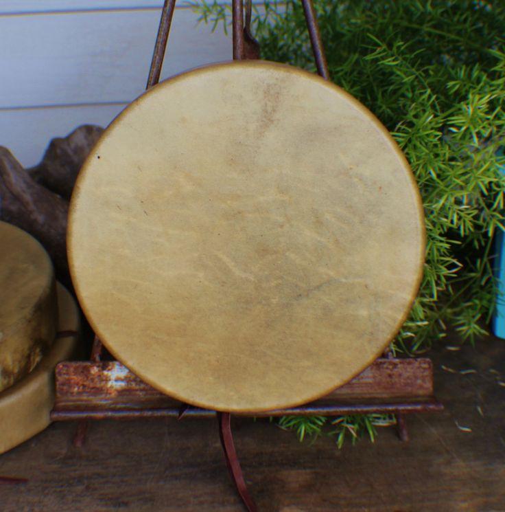 "10"" Elk Hide Hand Drum Native American Made William Lattie Cherokee Certificate of Authenticity"