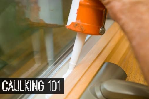 You'll be more comfortable and save money if you spend just a few minutes today plugging drafty cracks in your windows and doors. #Caulking