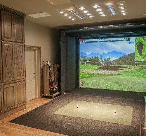 55 Best Golf Simulator Room Design Ideas Images On
