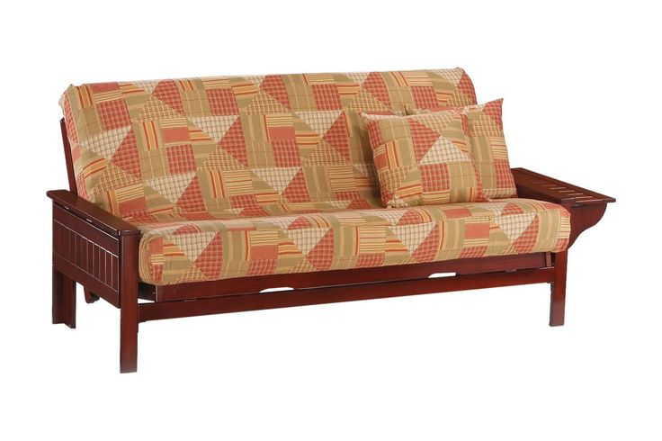 Seattle Queen Futon Frame in rosewood finish