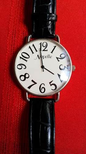 Reloj Dama Modelo Novelle Accutime Watch Corp Malla Cuero