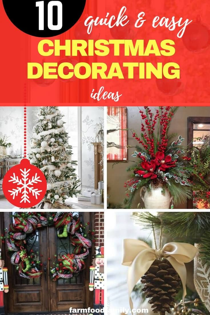 10 Quick And Easy Christmas Decorating Ideas For 2019 Diy