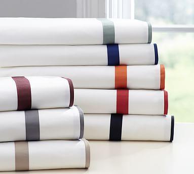 Morgan Banded 400-Thread-Count Sheet Set #potterybarn