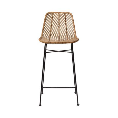 We know that good things happen when rattan meets metal in a comfy and attractive seating unit. They're happening here, with the Broeder Rattan Bar Stool, making an entertaining counter awash with a li...  Find the Broeder Rattan Bar Stool, as seen in the  Industrial Edge of Scandinavian Design Collection at http://dotandbo.com/collections/industrial-edge-of-scandinavian-design?utm_source=pinterest