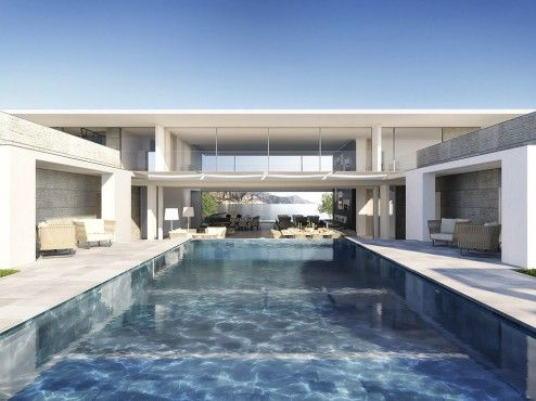 Architectural Rendering | Architectural visualization of a luxury villa in Saint Jean Cap Ferrat, France
