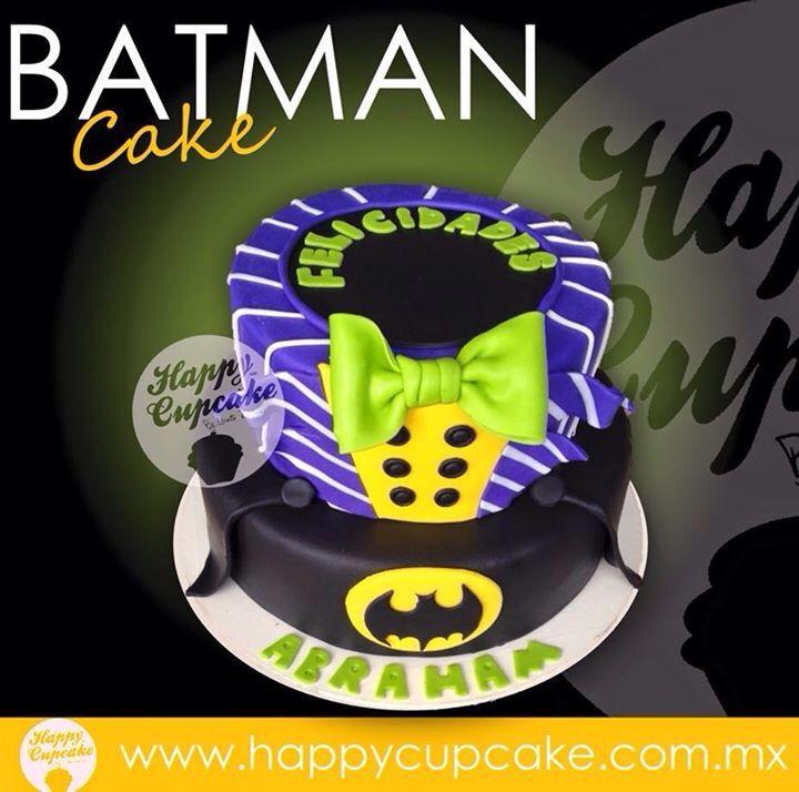 #BatmanCake #PastelBatman #HappyCupcake