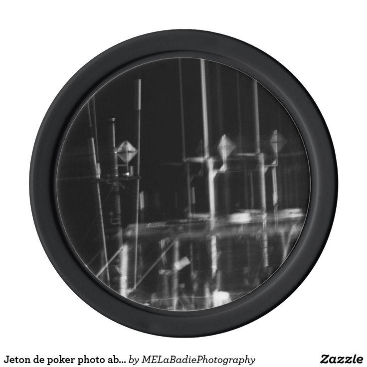 Jeton de poker photo abstraite noir et blanc