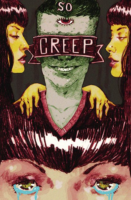 "Creep    Tribute to TLC - ""Creep"".  for Ten Paces Febuary Mix-Tape. Art by Justin Volz http://justinvolz.com"