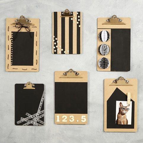 DIY Knytteboard Dekoration Sort & Hvid