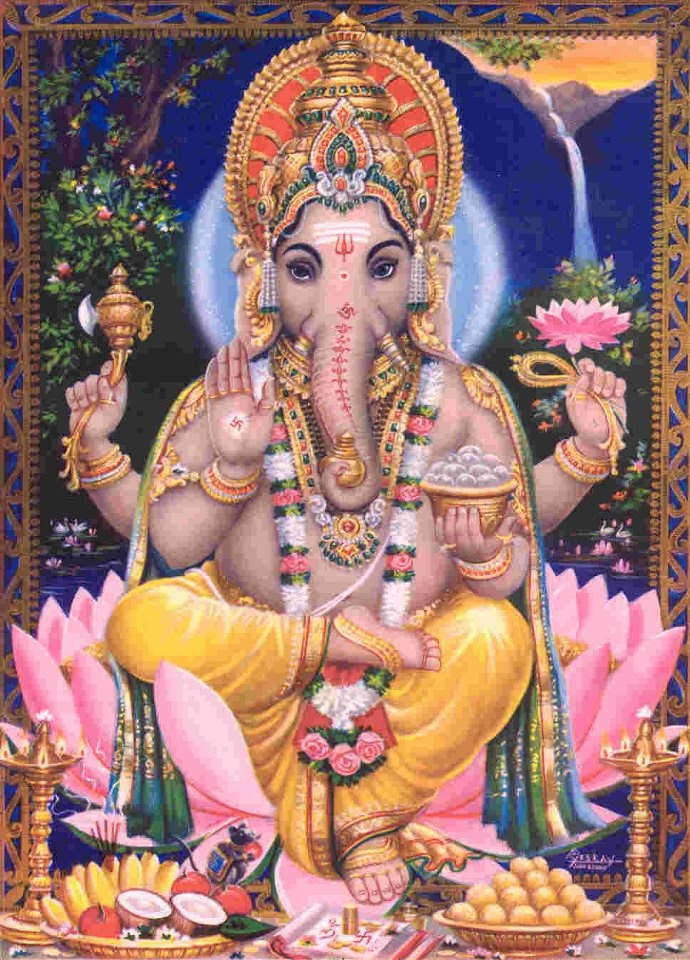 GANESH! The remover of obstacles. My household god.
