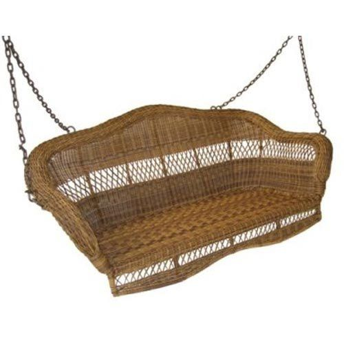 In white, front porch. Sahara 4-ft. Resin Wicker Porch Swing $399.98