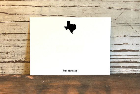 State Of Texas Stationery Stationery For Men Manly Personalized