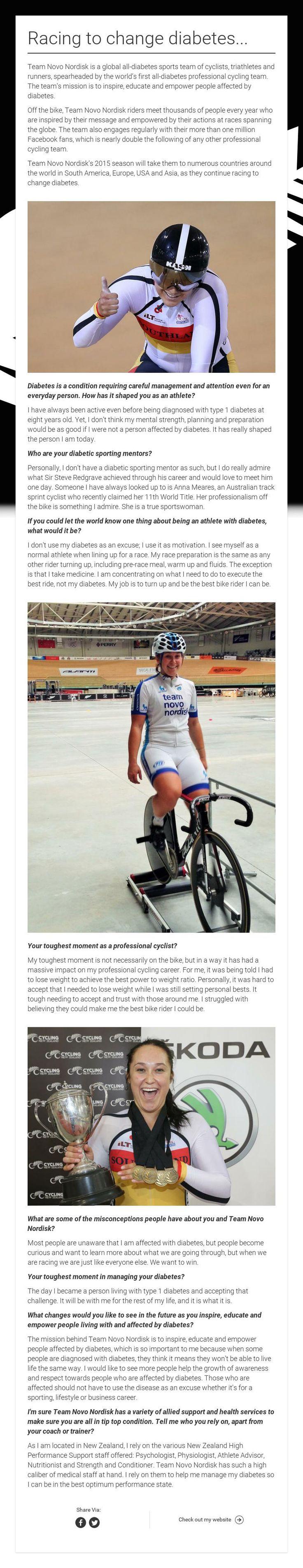 Racing to change diabetes...