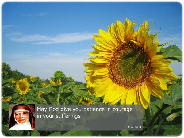 May God give you patience in courage in your sufferings