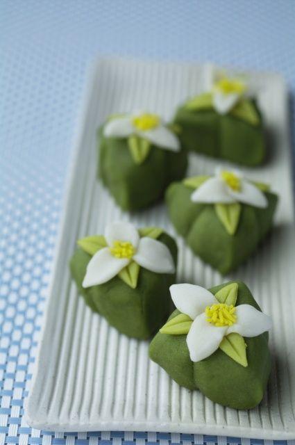 Japanese traditional confectionery aka wagashi