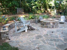 Beautiful Fire Pit And Patio Made From Recycled Concrete