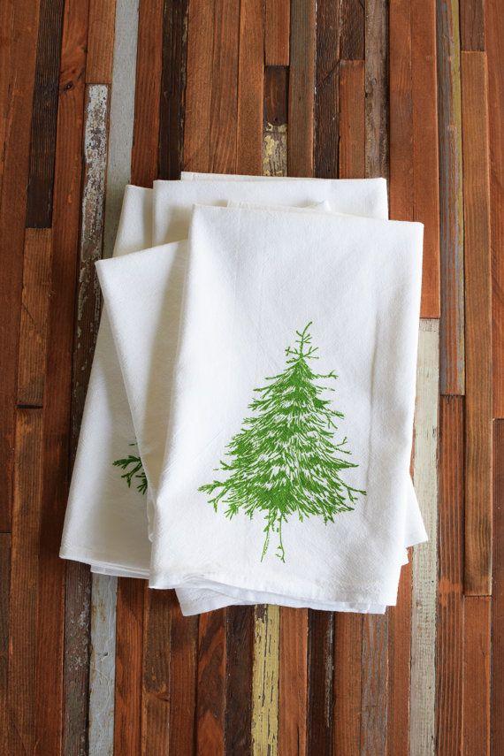 Cloth Napkins  Screen Printed Cloth Napkins  Eco by ohlittlerabbit