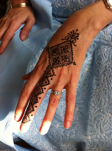 Beautiful Back Of Hand #Henna Design.